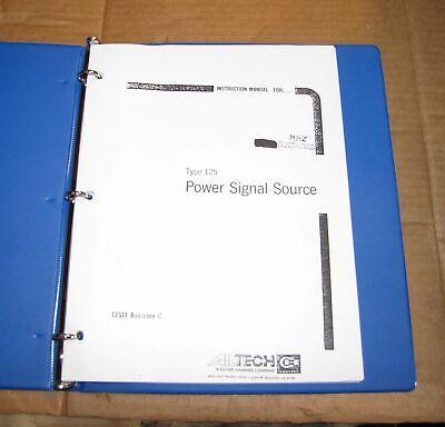 Ailtech Type 125 Power Signal Source Instruction Manual