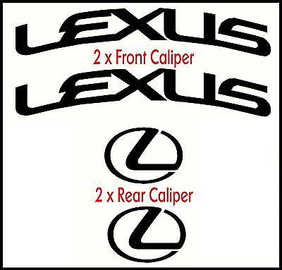 LEXUS CURVED HIGH TEMP BRAKE CALIPER CAST VINYL DECAL SET  STICKERS GRAPHICS MOD
