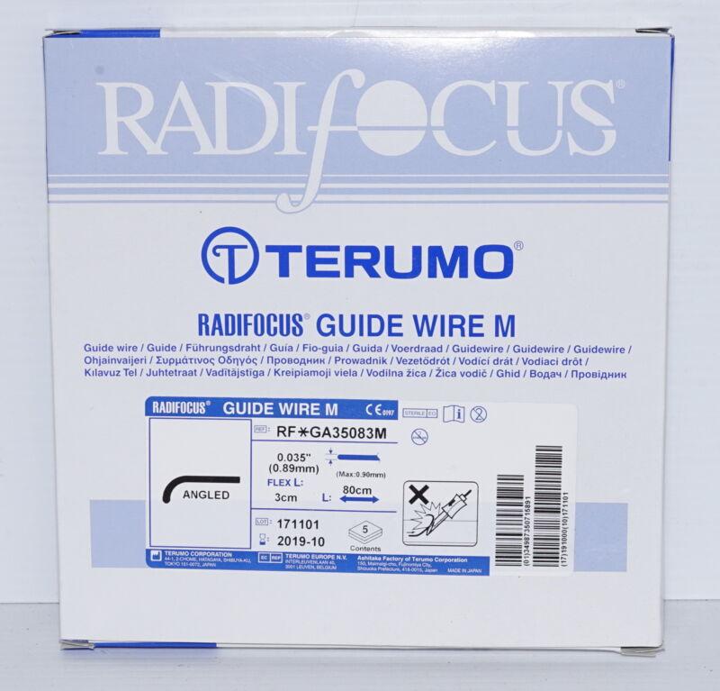 Terumo Radifocus RF-GA35083M Angled Guide Wire M 80cm/0.89mm/30mmFlex* BOX of 5*