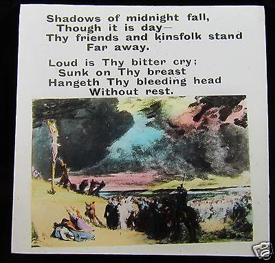 Glass Magic lantern slide CHRISTIAN RELIGION NO.7 C1900 JESUS CRUCIFICTION