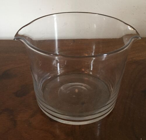 Antique Georgian Crystal Blown Glass Wine Rinser Bowl 19th c. Polished Pontil
