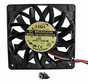 120mm 25mm New Case Fan 12V 161 CFM Ball Brg Waterproof to IP55 4 Screws 325*