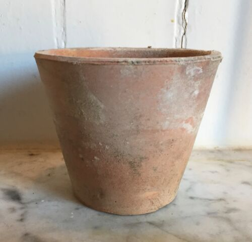 Small Antique 19th century English Victorian Terra Cotta Garden Flower Pot Vase