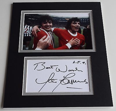 Peter Cormack Signed Autograph 10x8 photo display Liverpool Football AFTAL COA