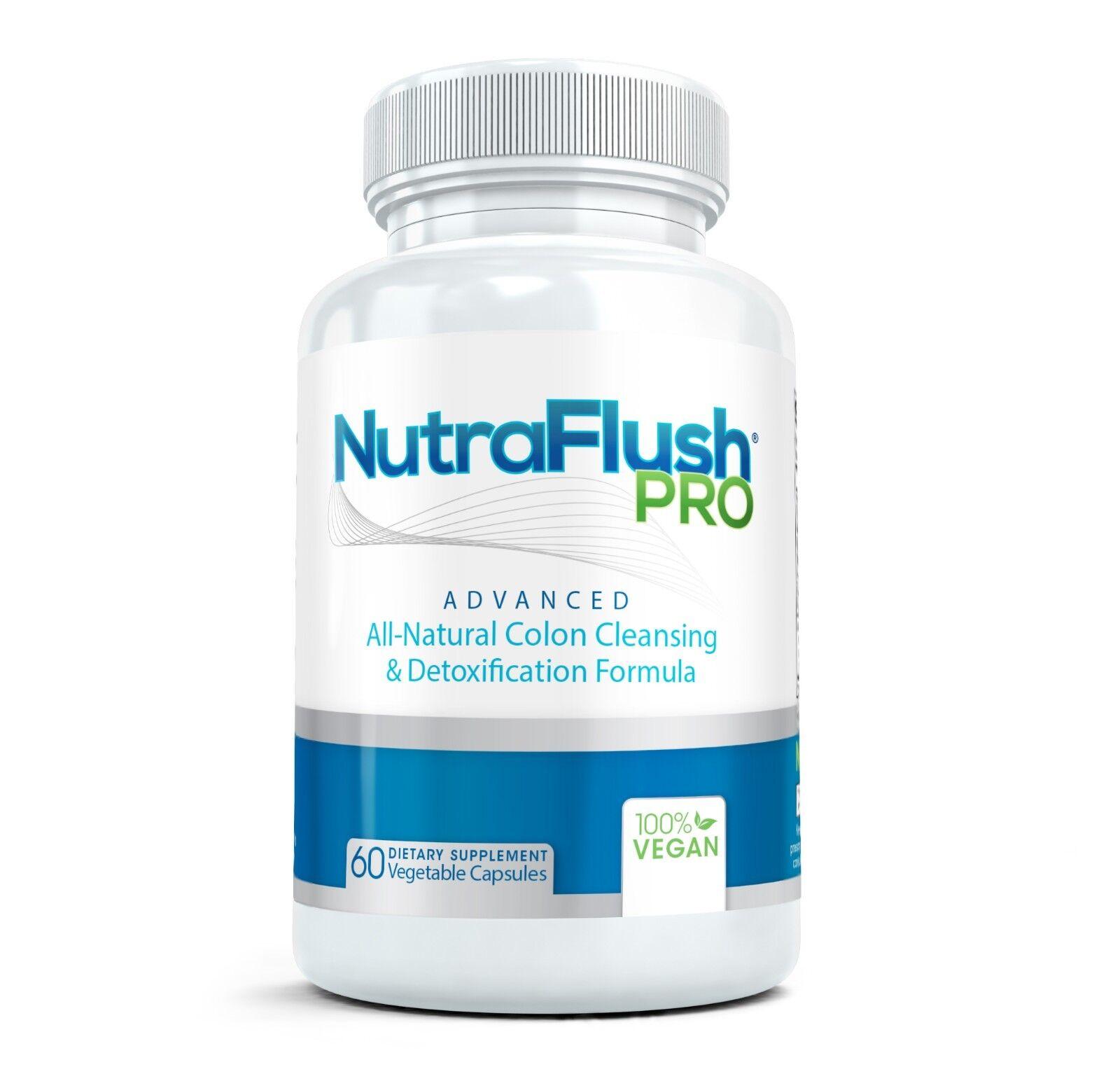 NutraFlush PRO All Natural Colon Cleansing & Detoxification Formula (60 Capsule)