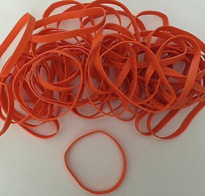 50 Orange Latex Free Rubber Bands 3 1/2 X 1/4 Size #64