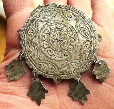 72mm Pendant Silver Antique Morocco Collier Berber