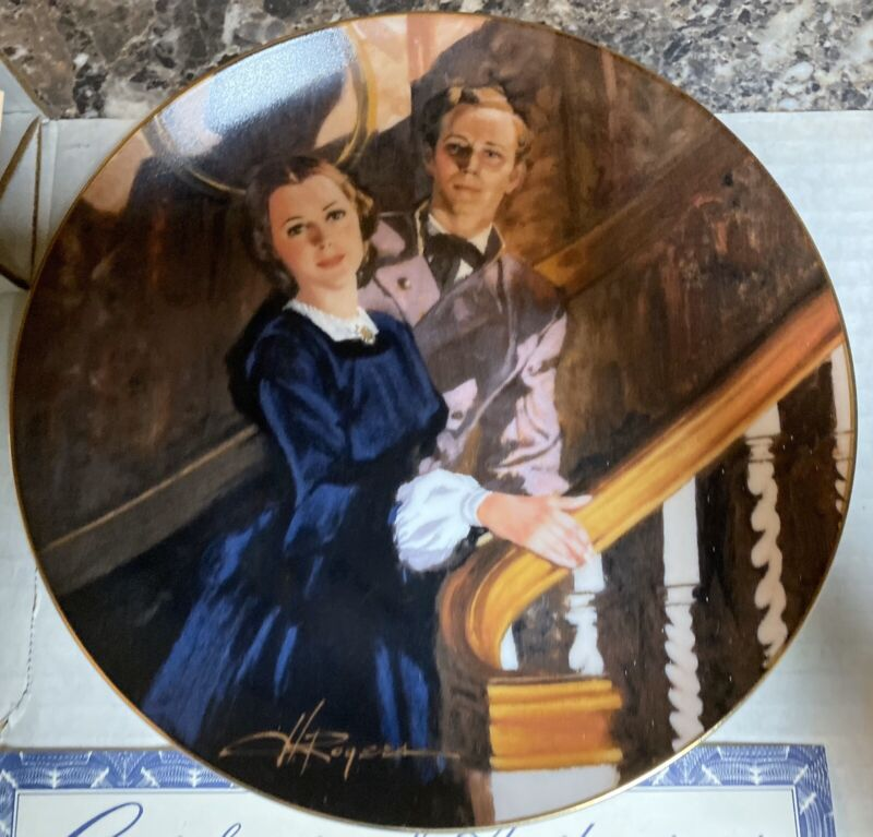"""Gone With the Wind """"Melanie and Ashley"""" Collector Plate Bradford Exchange 1989"""