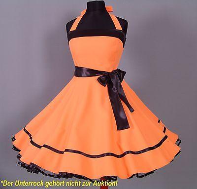 Kleid 50er Jahre zum Petticoat Abiball, Abend Partykleid Gr.38-42 Orange