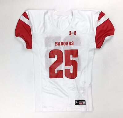 New Under Armour Wisconsin Badgers Performance Football Jersey Boy