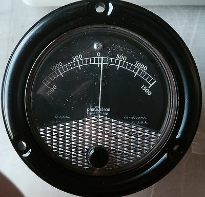 Phaostron Arbitrary Scale Meter 1500-0-1500 Nsn 6625-00-534-1980 30-013104