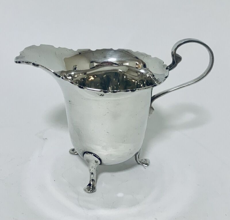 Quality Antique Solid Sterling Silver Milk or Cream Jug 1922