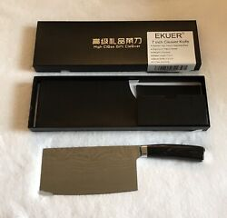 EKUER 7-Inch Chinese Chef Chopper Cleaver Butcher Vegetable Knife for Home...