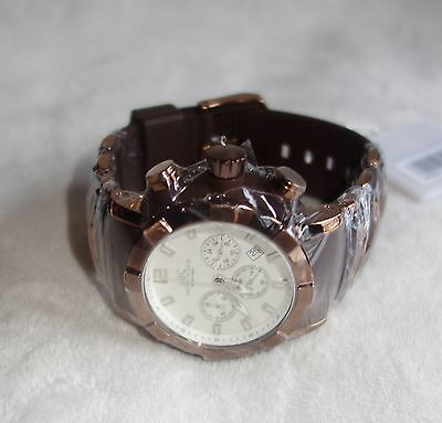 Adee Kaye Men's Quartz Chronograph AK2224-M BROWN CASE WHITE DIAL NEW for sale  Shipping to South Africa