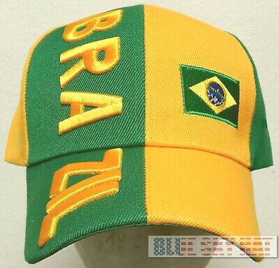 NEW BRAZIL BRASILIA COUNTRY FLAG FIFA WORLD OLYMPIC GAME SOCCER CUP TEAM CAP HAT Brazil Country Flag