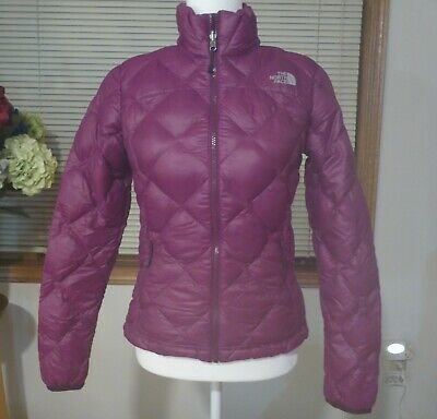 EUC THE NORTH FACE WOMENS MAGENTA/PURPLE SMALL ACONCAGUA 600 DOWN COAT JACKET