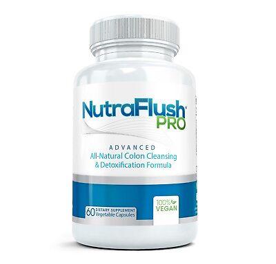NutraFlush BEST COLON CLEANSE Supplement, Natural Body Bowel Cleanser Detox