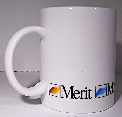Merit Brand Cigarettes Logo Coffee Mug 8 Fl Oz White Cup Phillip Morris Usa