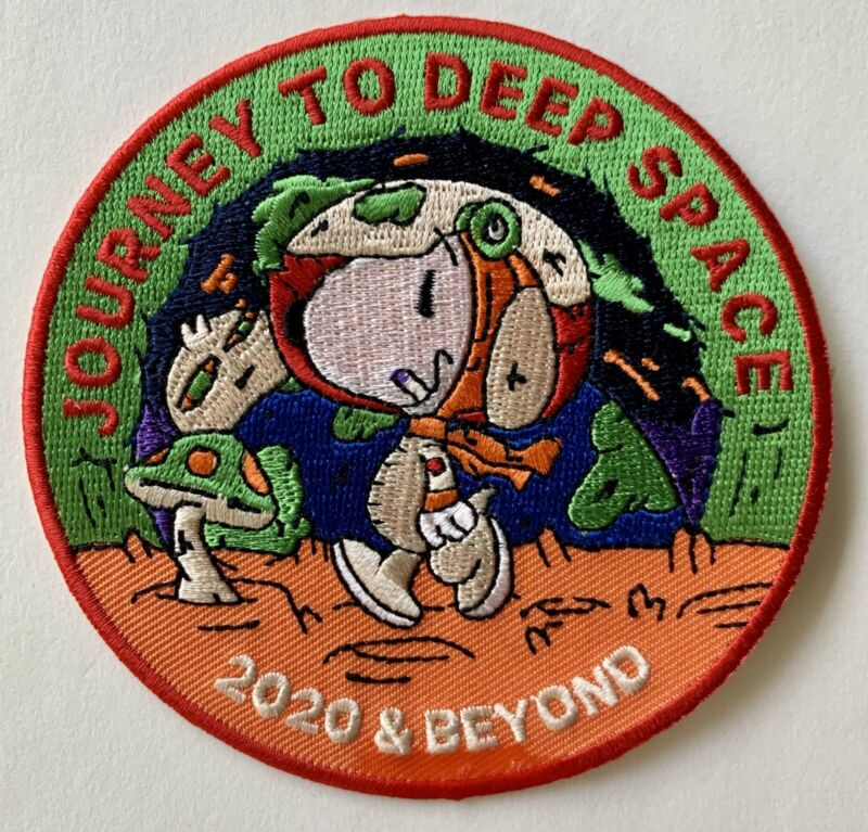 """Original Trippy Psychedelic Snoopy Journey Deep Space and Moon 2024 Patch 3.5"""""""