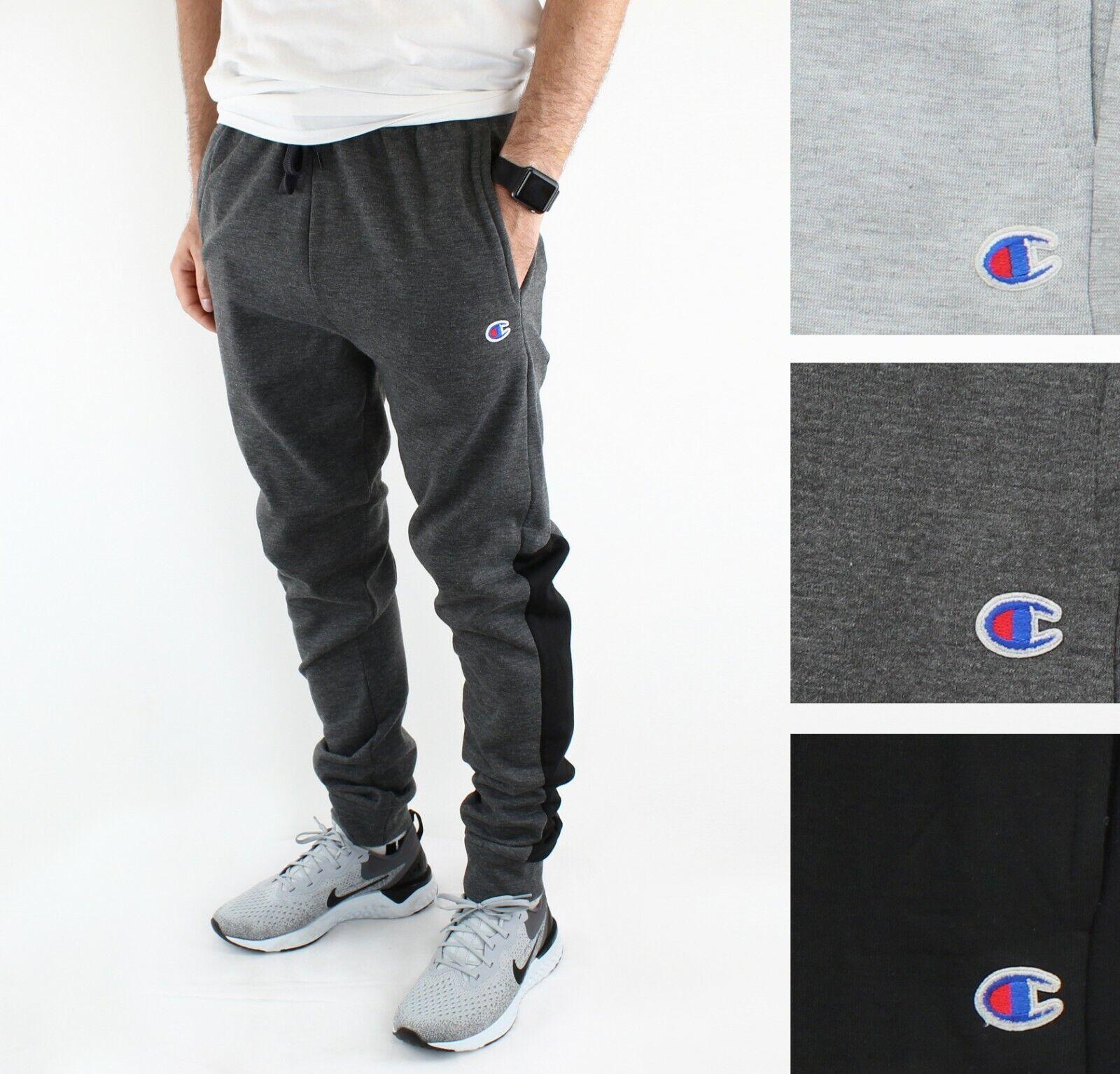 CHAMPION SWEATPANTS Mens Dark Grey Premium Powerblend Logo TRACK PANTS Sz XL NWT