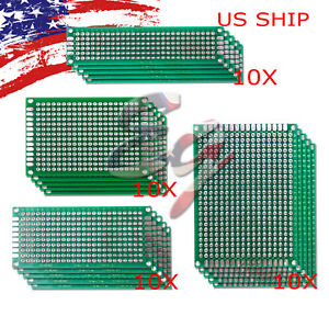 40pcs KIT Prototyping PCB Printed Circuit Board Prototype Breadboard Stripboards