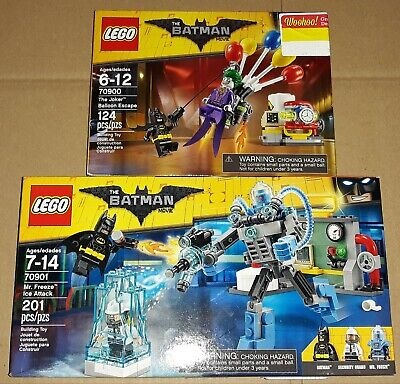 Lego Batman Movie Mr. Freeze Ice Attack 70901 + Joker Balloon Escape 70900 New