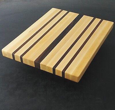 Upstate NY Cutting Board 10 x 12 x 1 Handmade from Hard Maple and Black Walnut ()