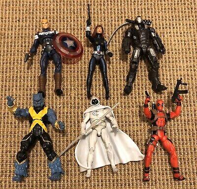 "Marvel Universe 3.75"" Secret Avengers Steve Rogers, War Machine, Beast, Deadpool"