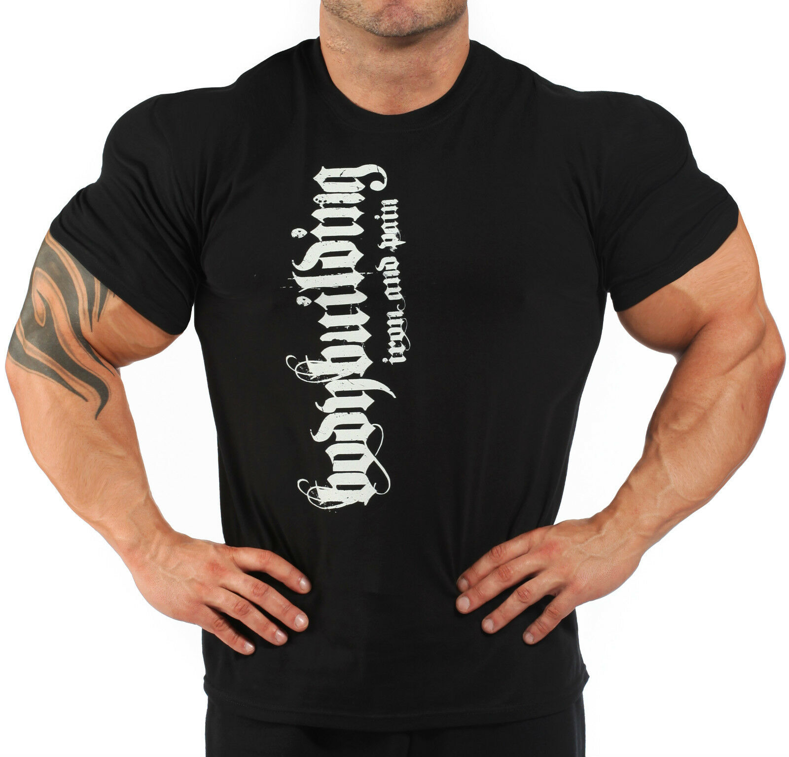 Bodybuilding T Shirt Workout Gym Clothing Black J 103 Ebay