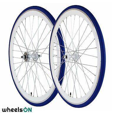 700C Alloy Wheelset 43mm Neon Green Fixie Freewheel Single Speed Flip Flop Hub