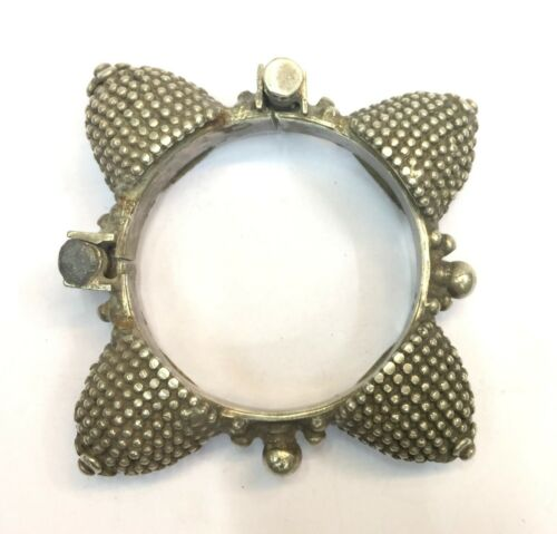 Rare! Antique Ethnic Tribal Old Silver Bracelet Bangle Belly Dance India