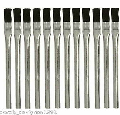 """(144) pc ACID BRUSHES 3/8"""" BRUSH 6"""" LONG  CLEANING PAINT GLUE MADE IN USA!!"""