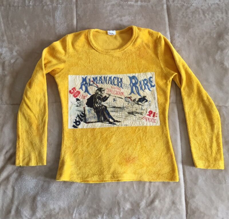 Vintage French Almanac Bicycle CHAM antique Shirt Amedee De Noe Artist 60s Devil