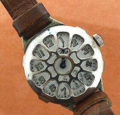Waltham Trench Watch Glagovsky Crystal Guard As Found Original
