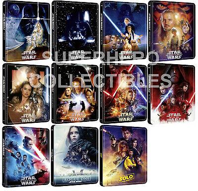 ZAVVI Star Wars Steelbook Complete Set (11 Films) 4K ULTRA HD + BLU-RAY SEALED