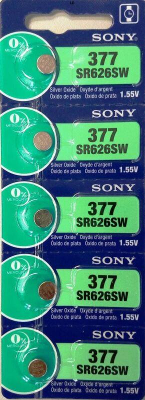 MURATA / SONY 377 SR626SW (5 piece) SR626 V377 Watch Battery USA seller