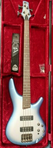 Sound Gear by Ibanez SR300 Electric Bass 4-String GATOR Flight Case BLUE BURST