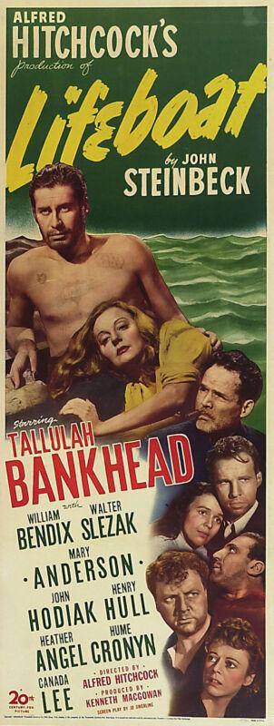 LIFEBOAT Movie POSTER 14x36 Insert Tallulah Bankhead John Hodiak William Bendix