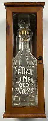 2004 release Jack Daniels 1904 Centennial empty bottle w/ wooden display case