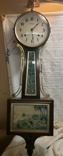 Antique  Treasure island  Banjo Clock~ Circa 1920-40