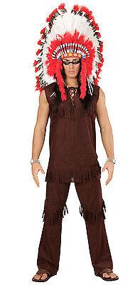 Indianer Häuptling Kostüm für Herren NEU - Herren Karneval Fasching - Kostüm Für Indianer