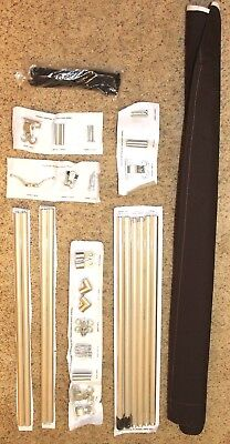 8' Awnings In A Box Traditional Style Cocoa Brown New Complete Awning Kit