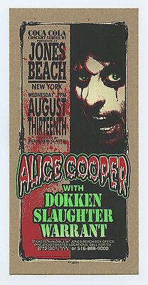 Alice Cooper Handbill 1997 Aug 13 Jones Beach NY Mark Arminski