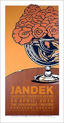 Jandek Featuring Thurston Moore Poster Original Signed Silkscreen