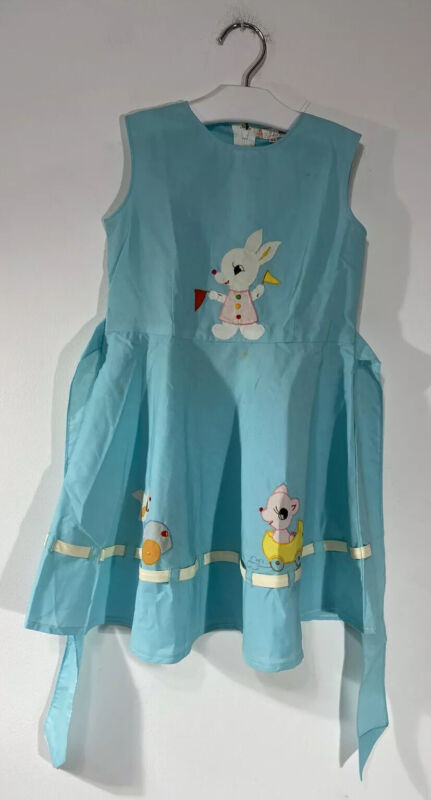 Vintage Toddler Girl Easter Dress New Turquoise Color Size: 24 Months
