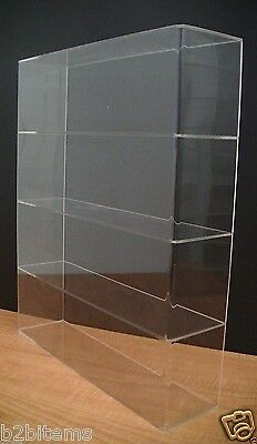 Acrylic Counter Top Display Case 16 X 4 X 19 Show Case Cabinet Shelves