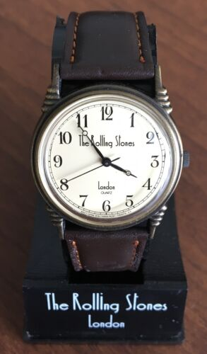 $0 ship! The ROLLING STONES Japan PROMO wristwatch POLYDOR 1989 - STRAP DAMAGED