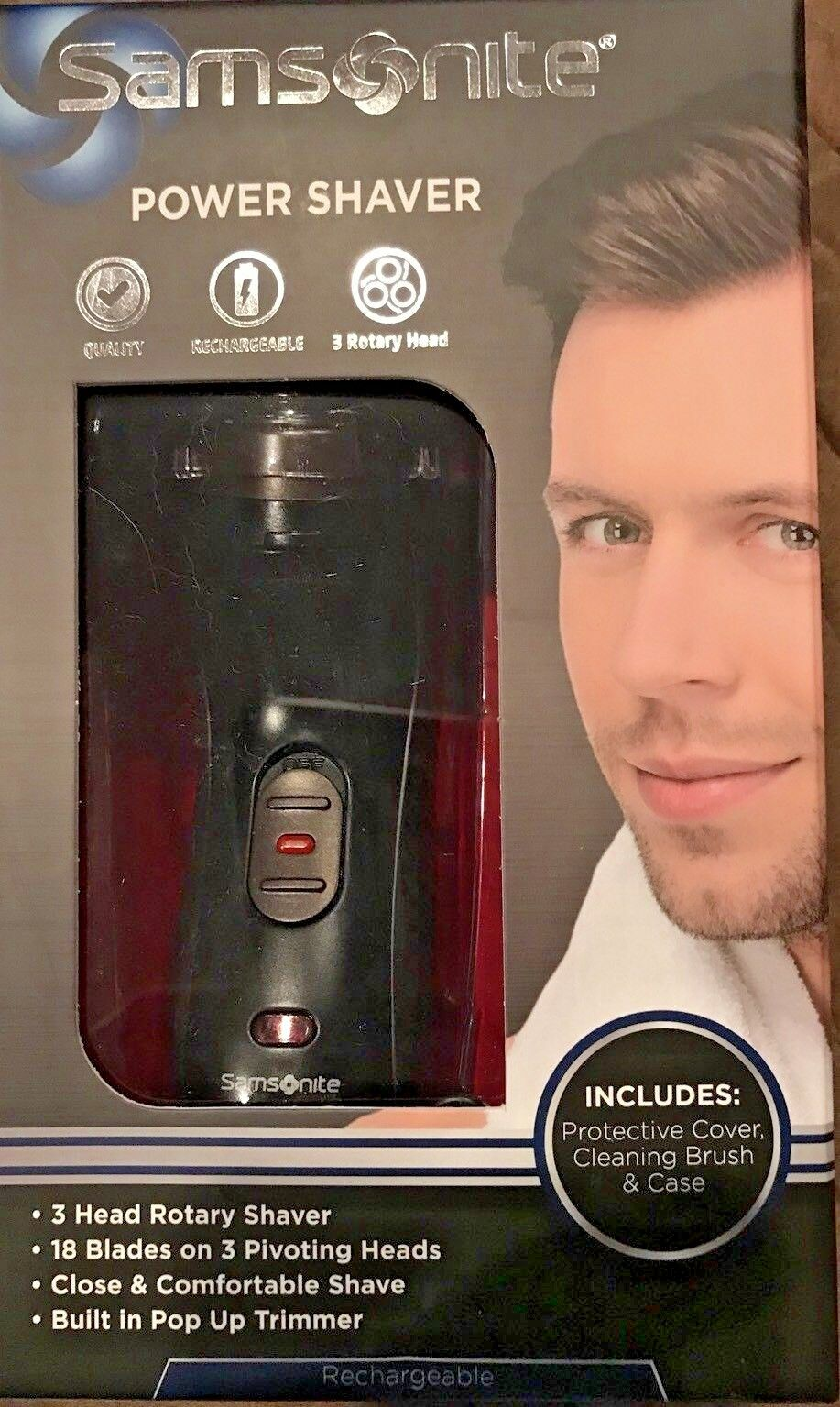 New SAMSONITE  5737 Men's Rotary Rechargeable POWER SHAVER.