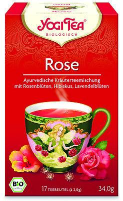 (100g=10,26€) Yogi Tee  ROSE Tee - 17 Tee Beutel -Yogi Tea Bio