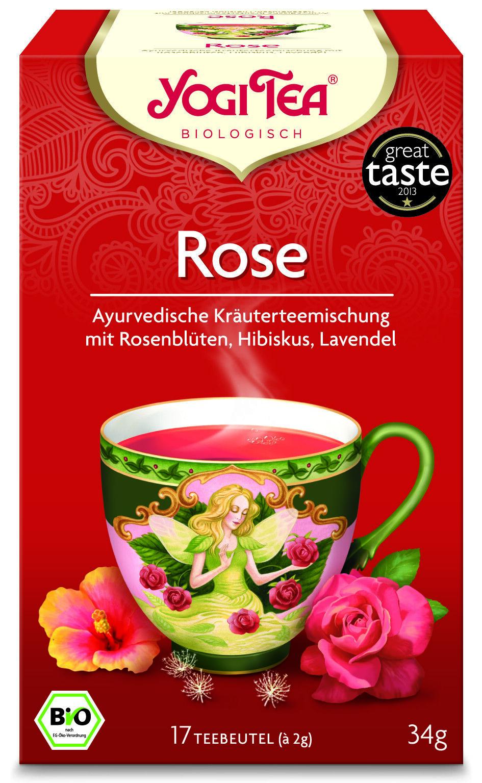 YOGI TEA BIO Rose | 6 Packungen á 17 Beutel = 102 Beutel